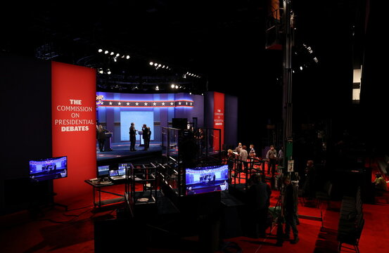 Preparations continue for the second and final 2020 presidential campaign debate between President Donald Trump and Democratic nominee Joe Biden at Belmont University in Nashville
