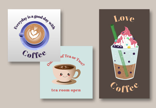 Cafe Social Post Layouts
