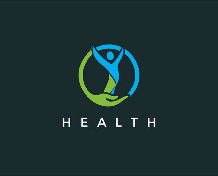 minimal health logo template - vector illustration