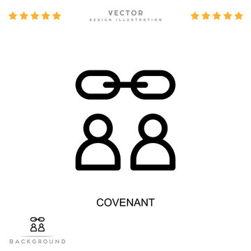 Covenant icon. Simple element from digital disruption collection. Line Covenant icon for templates, infographics and more