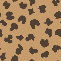 Animal print vector seamless pattern. Hand drawn exotic nature texture background.