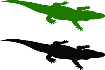 silhouette of an alligator Wall mural