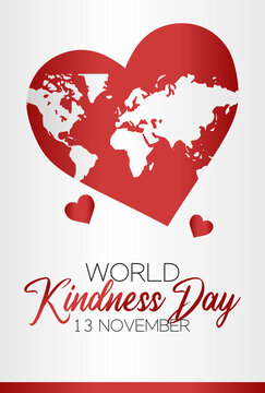 vector graphic of world kindness day good for world kindness day celebration. flat design. flyer design.flat illustration.