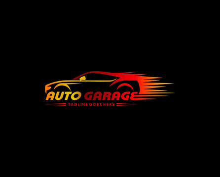 car garage logo design vector. for automotive detailing. repairing. tuning. service. selling and other