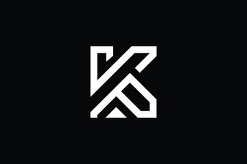 Obraz Initial based clean and minimal letter. K P KP PK logo creative fonts monogram icon symbol. Universal elegant luxury alphabet vector design  - fototapety do salonu