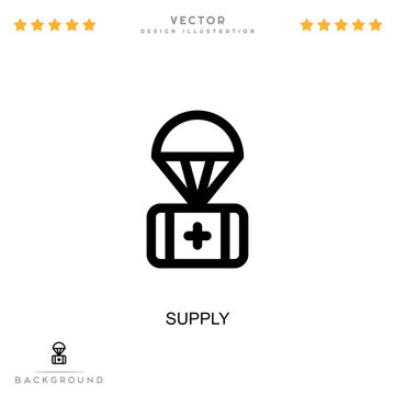 Supply icon. Simple element from digital disruption collection. Line Supply icon for templates, infographics and more