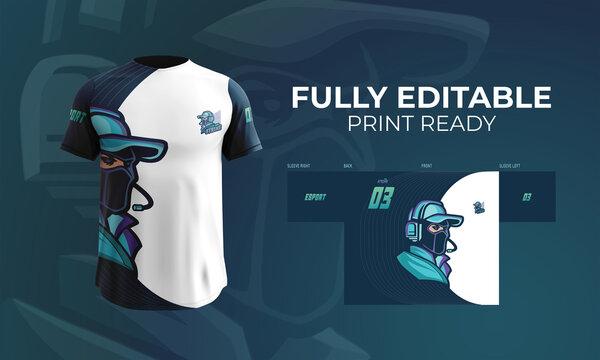 Jersey T Shirt Esport And Gaming Logotype Team Strike Design
