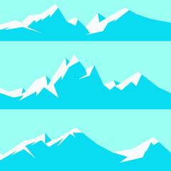 Photo sur Plexiglas Turquoise Mountain landscape vector image