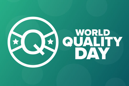 World Quality Day. Second Thursday in November. Holiday concept. Template for background, banner, card, poster with text inscription. Vector EPS10 illustration.