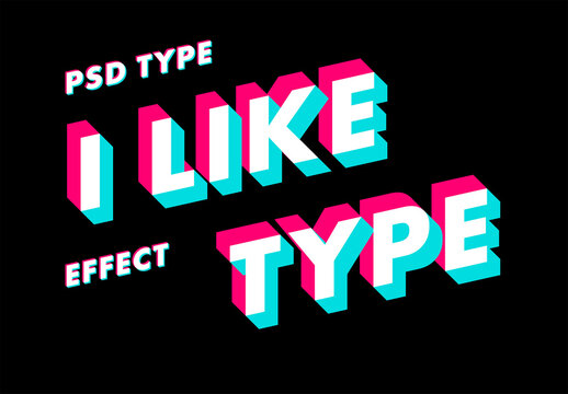 3D Type Effect