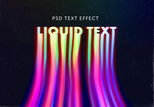 Liquid Color Text Effect