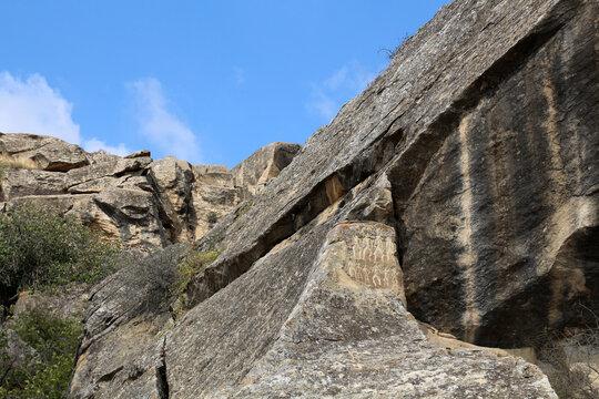 Petroglyph in Qobustan National Park, Azerbaijan