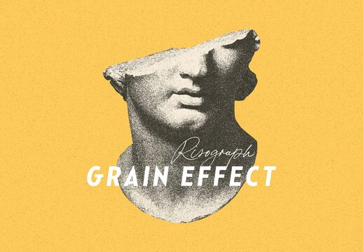 Risograph Grain Photo Effect Mockup