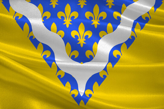 Flag of Val-de-Marne in Ile-de-France, France