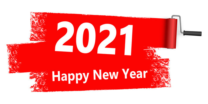 paint roller concept New Year 2021