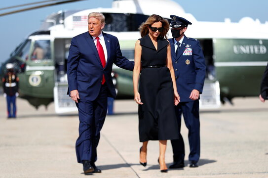 U.S. President Trump departs Washington for campaign travel for Nashville, Tennessee at Joint Base Andrews in Maryland