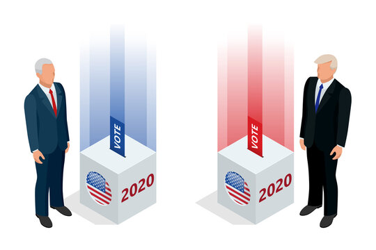 Election day. Usa debate of president voting 2020. Election voting poster. Vote 2020 in USA, banner design. Political election campaign