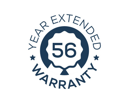 56 Years Warranty images, 56 Year Extended Warranty logos