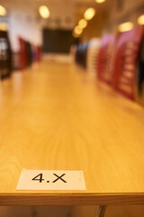 Fototapeta table seating number in a classroom
