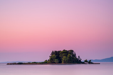 Mouse Island, Corfu, Greece, at sunrise