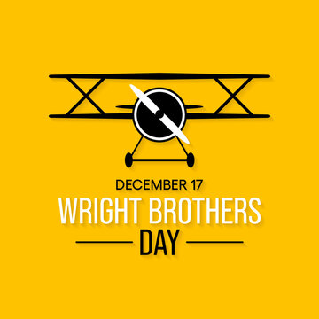 Vector illustration on the theme of Wright Brothers day observed each year on December 17th.