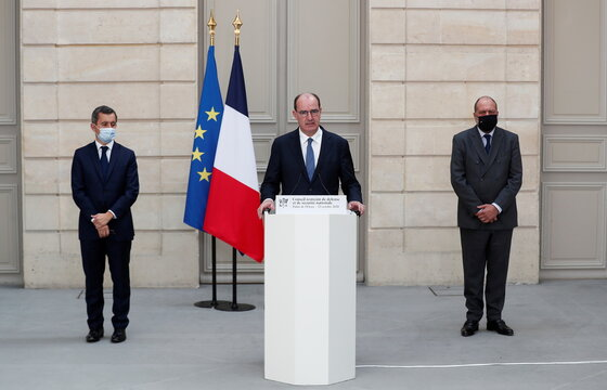 News conference after a Defense Council meeting in Paris