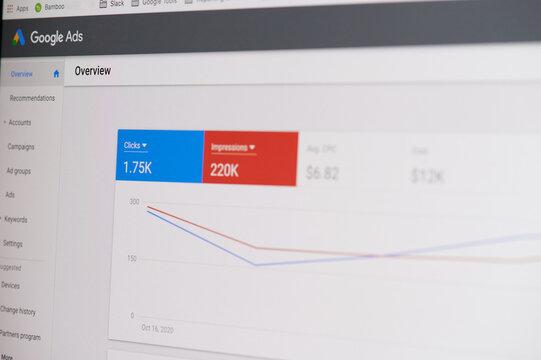 Managing google ad account click