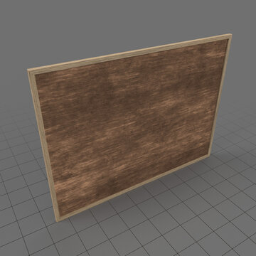 Wooden notice board