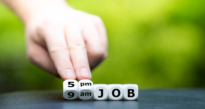 Symbol for a typical 9am to 5pm job.
