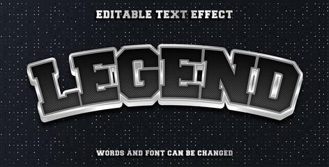Wall Mural - Legend editable text effect