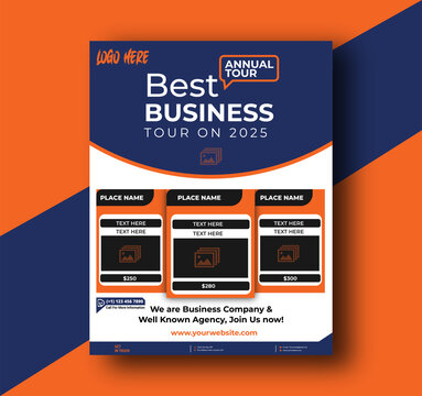 Travel Agency Business Flyer Template