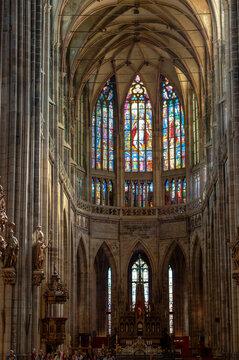 Interior Of St. Vitus Cathedral. Prague