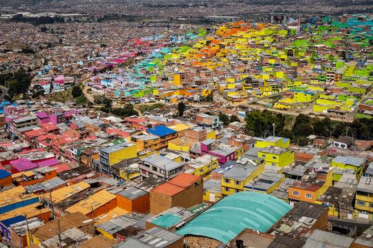 Comuna El Pariiso, the city slum of Bogota, Colombia
