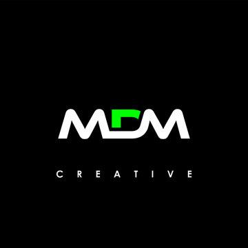 MDM Letter Initial Logo Design Template Vector Illustration