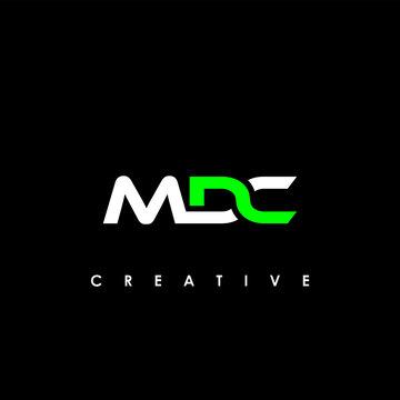 MDC Letter Initial Logo Design Template Vector Illustration