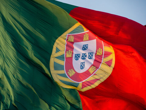 Portugal flag in the wind
