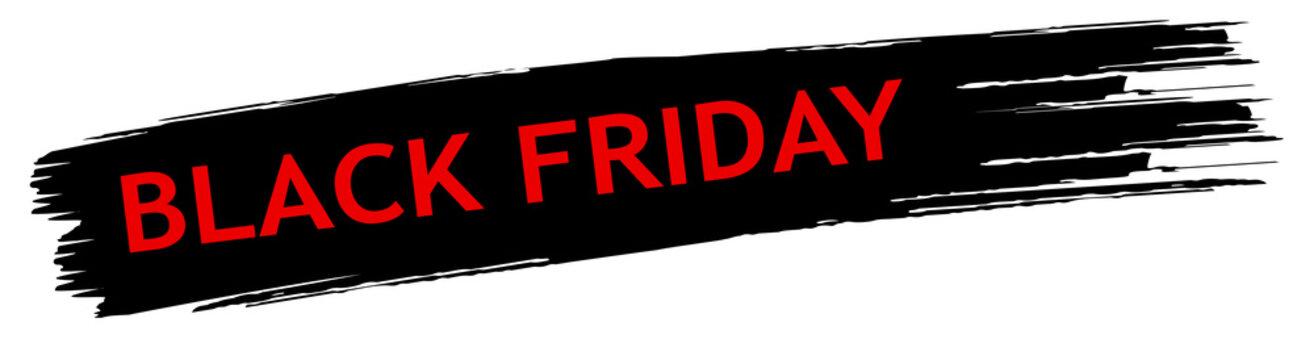 schwarzer Black Friday Banner