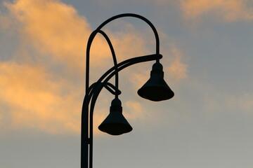 lantern design for street lighting in a big city in Israel Fotomurales