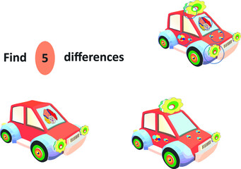 find 5 differences in the image