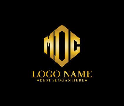MDC Diamond Alphabet Modern Logo Design Concept