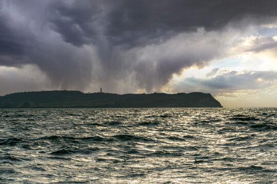 Hiddensee island in the baltic sea at dawn