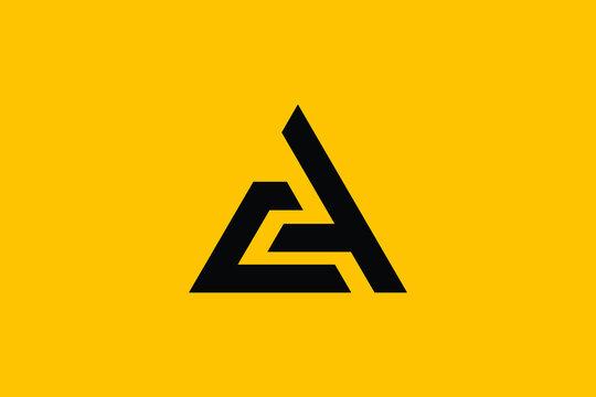 Professional Innovative Initial AC logo and CA logo. Letter AC CA minimal elegant Monogram. Premium Business Artistic Alphabet symbol and sign