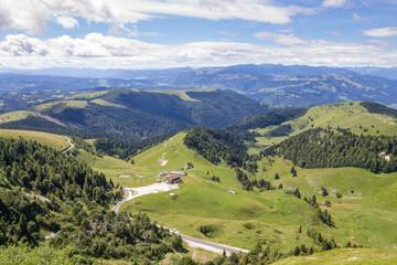 Mountain landscape in summer season.