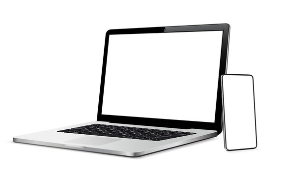 Cellphone and laptop with blank touch screen