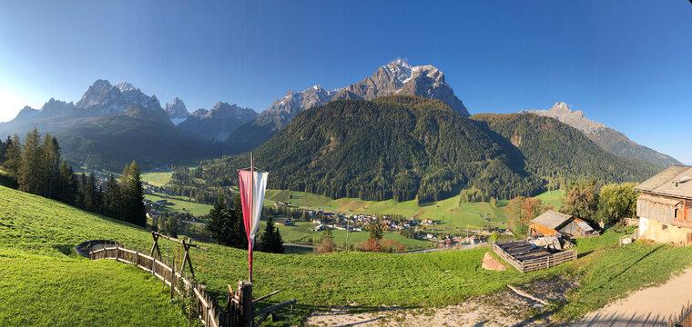 Panorama Sextner Dolomiten, Südtirol