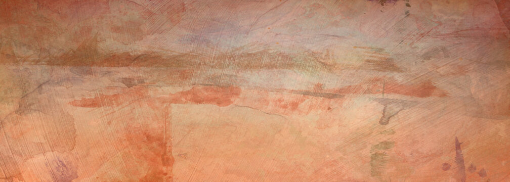 Abstract vintage orange background pattern with texture and painted old grunge stains