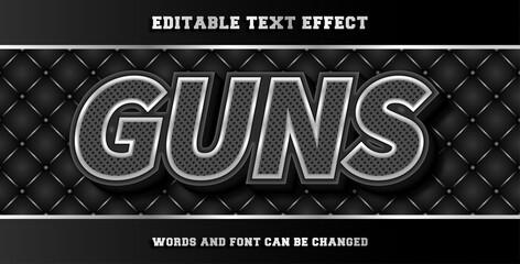 Wall Mural - Guns editable text effect