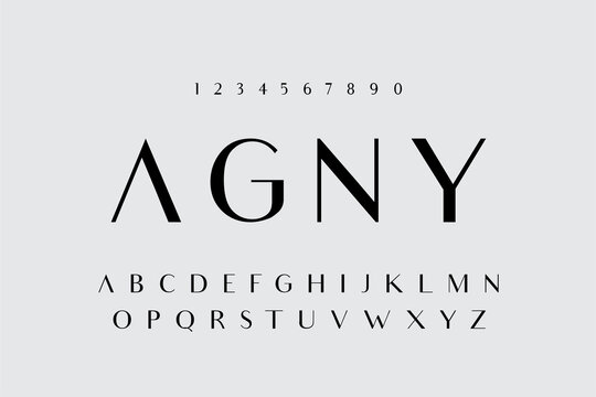 Minimal font creative modern alphabet. Typography minimalist style fonts set. vector illustration