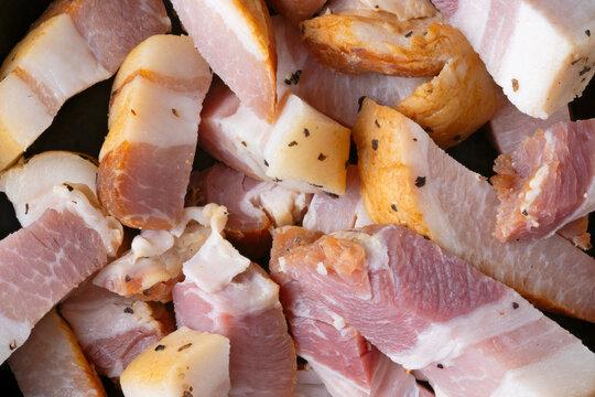 rustic italian pancetta bacon food background