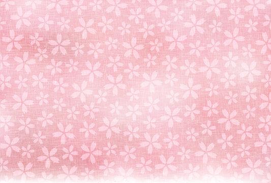 和柄 年賀状 桜 背景